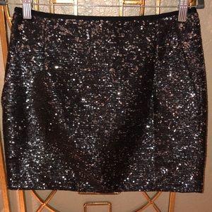 JCrew sequins mini skirt